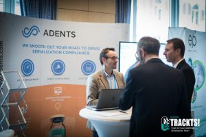 Adents booth at Trackts! 2017